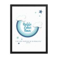 Load image into Gallery viewer, Rabbi Zidni Ilma Blue - Framed poster