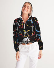 Load image into Gallery viewer, Artikyoul8 Women's Cropped Windbreaker