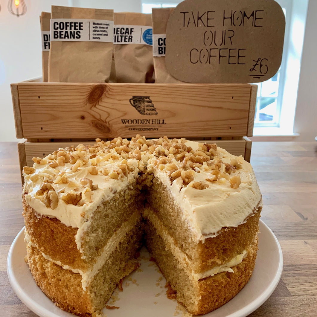 Coffee & walnut cake
