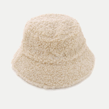 Faux Fur Bucket Hat For Women Girl Fashion