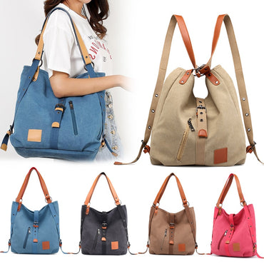 Vintage Two Way Canvas Tote Bag