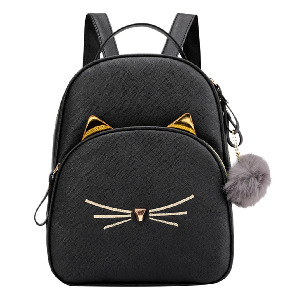 Cute Cats Shoulder Bag Fur Ball Crossbody