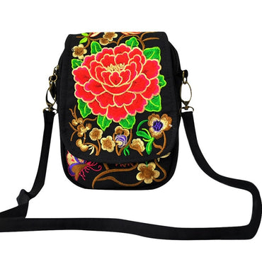 Womens Ethnic Style Embroidered  Retro Backpack