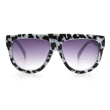 Sexy square sunglasses ladies fashion python pattern oversized