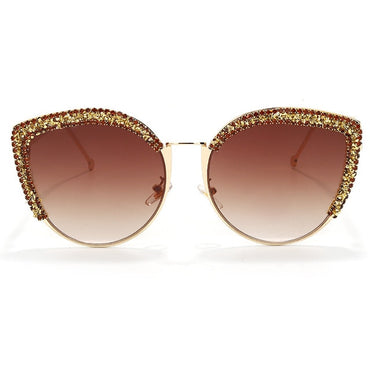 Luxury Rhinestone Cat Eye Sunglasses Women 2021