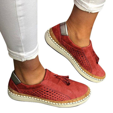 Leather Loafers Casual Shoes Women Slip-On Sneaker