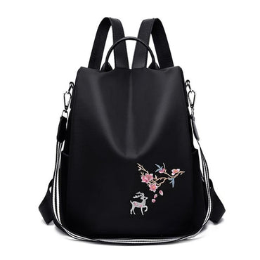 Embroidery Print School Shoulder Bags Anti-theft