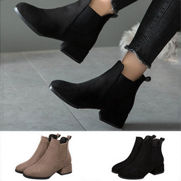 Women Autumn Winter Flock Ankle Boots