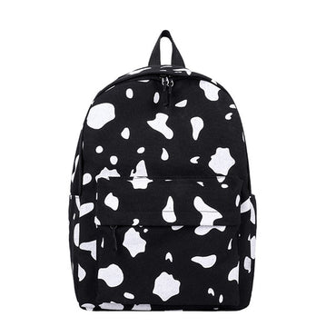 Cow Pattern Backpack For School Teenagers Girls