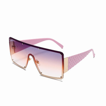 Oversized Women 2021 Rivet Goggle Sunglasses