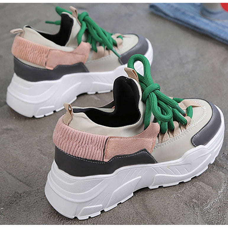 Chunky Sneakers Thick Bottom Platform Vulcanize