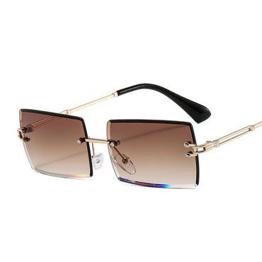 Small Rimless Sunglasses Women Eyewear