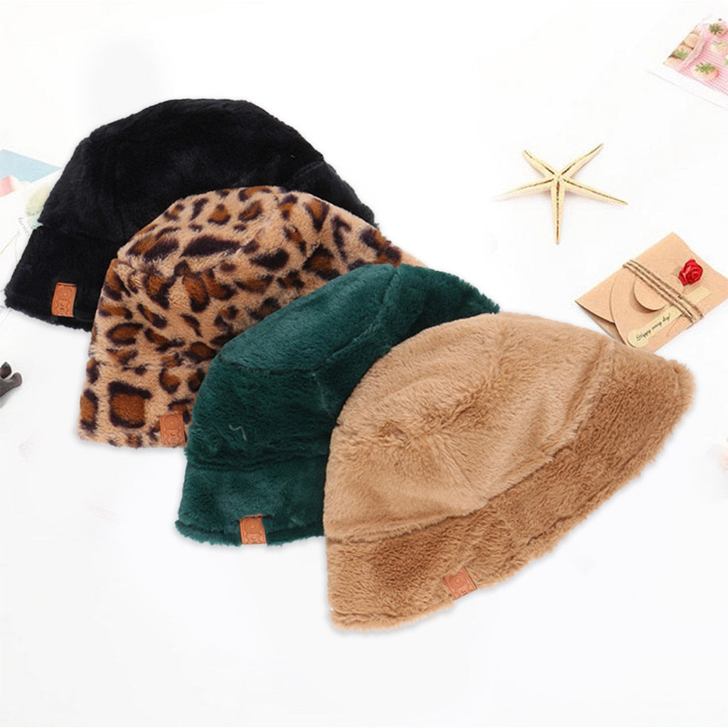 Bucket Hat Women Ladies Winter Cute And Warm Caps