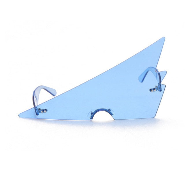 Oversized Triangle Women 2021 Vintage Rimless