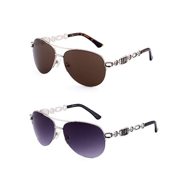 Mirror Pilot Pink White Female Sun Gasses