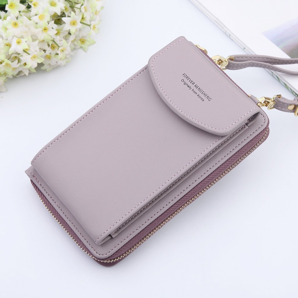 Women Mobile Phone Bag Buckle Shoulder