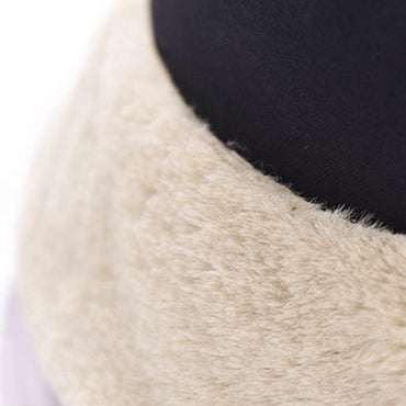 Faux Fur Winter Hat For Women Girl Fashion Bucket  Solid Thickened