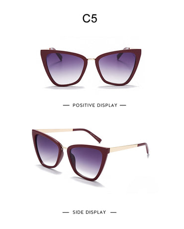 Oversized Cat eye Sunglasses Women 2021 Retro