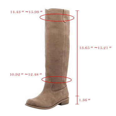 Women's Mid Calf Boots Vintage British PU Leather