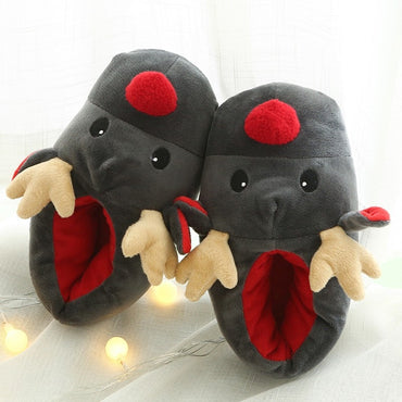 Christmas Deer Cotton Slippers Cute Plush