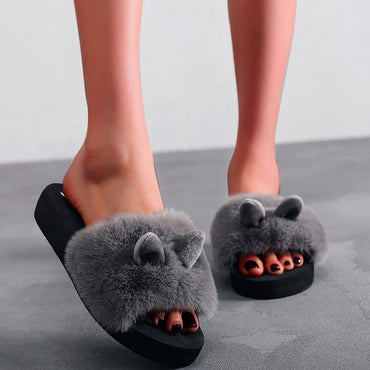 Fashion Indoor Rabbit Ear Home Slipper