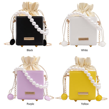 Square Box Crossbody Bags Women PU Leather