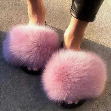 Furry Slippers Ladies Shoes Cute Plush