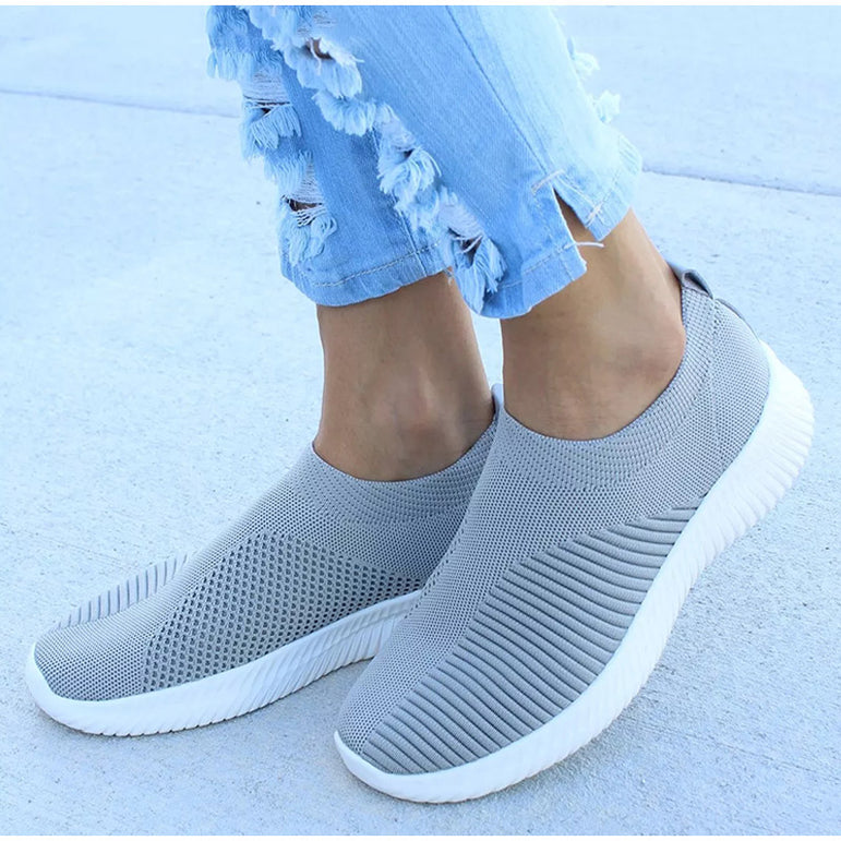 Women Sneaker Air Mesh Soft Female Knitted Vulcanized Shoes
