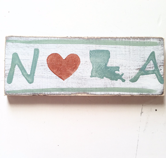 NOLA Wood Sign