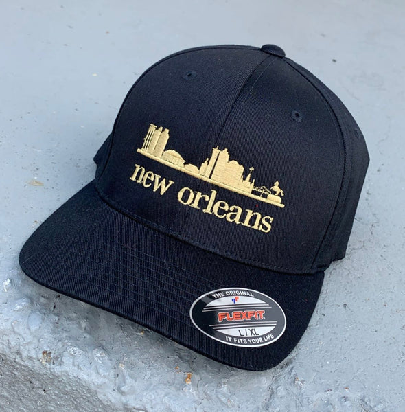 New Orleans Skyline Snapback Hats