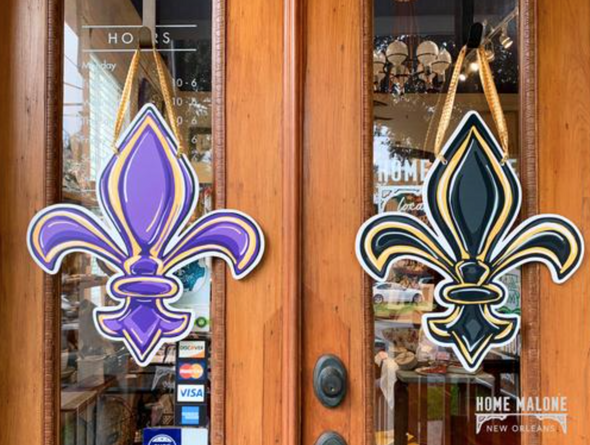 LSU/Saints Double Sided Door Hanger