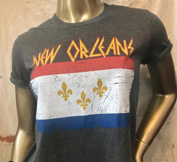 New Orleans Flag Crop top