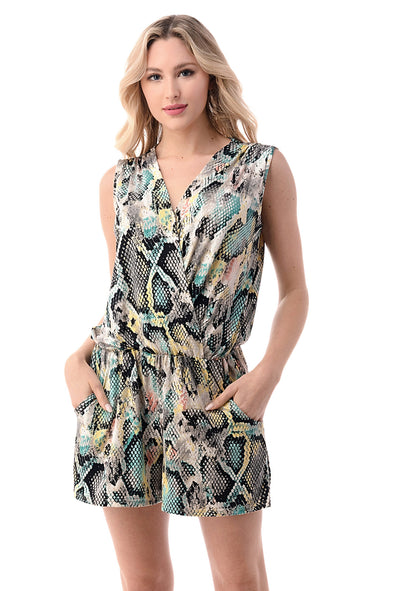 Surplice Romper w Pockets