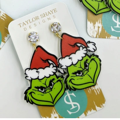 Mr. Grinch Acrylic Drops