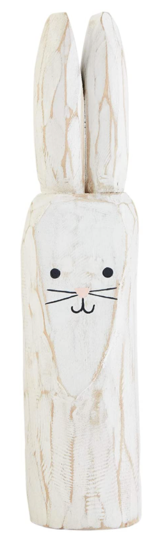 Small Bunny Wood Block Sitter