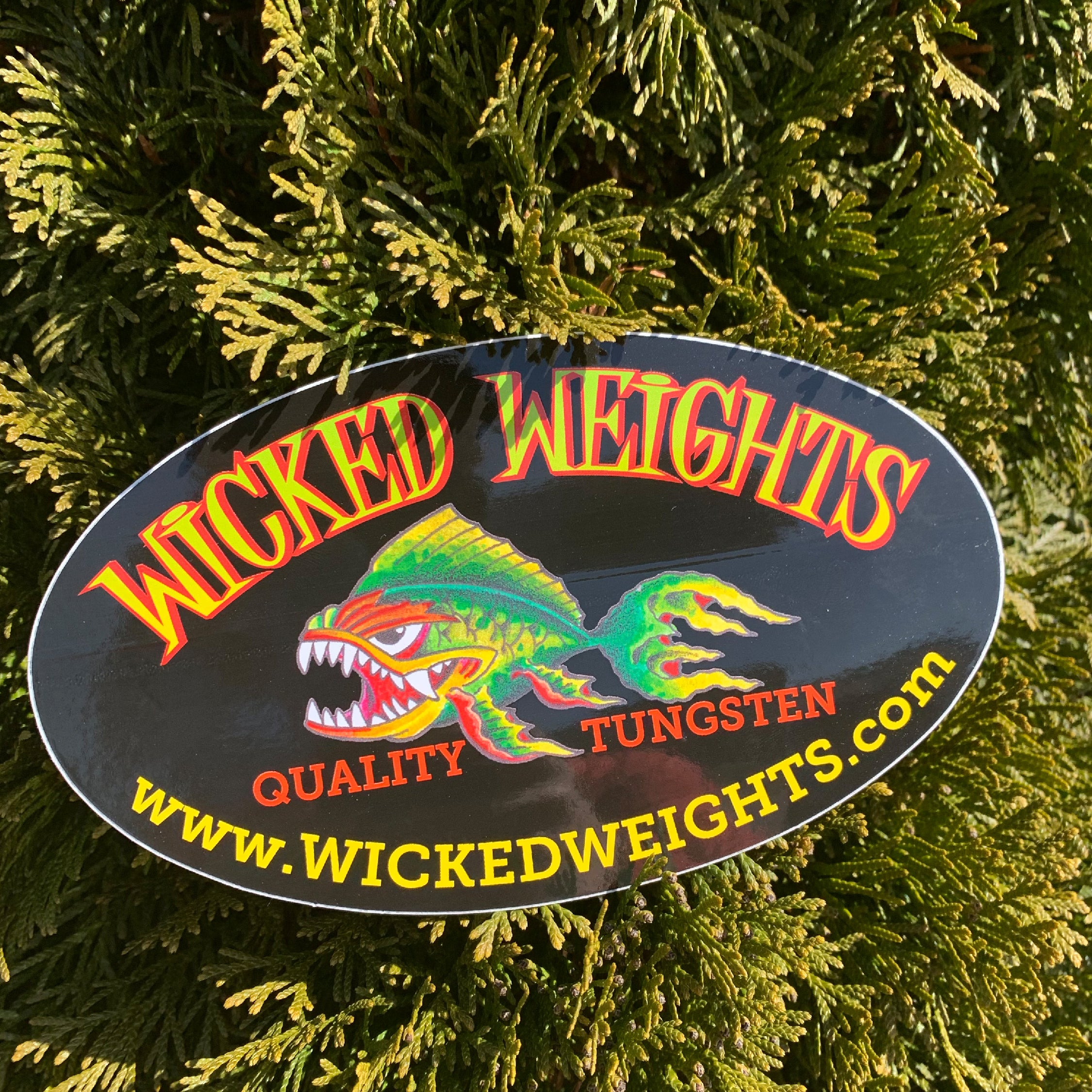 Wicked Weights Oval Decal
