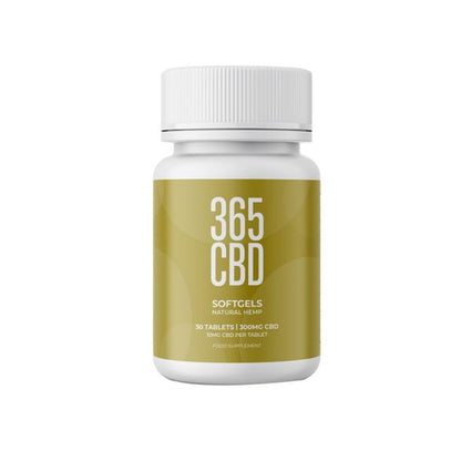 365CBDNatural Softgels 300mg CBD 30 Tablets