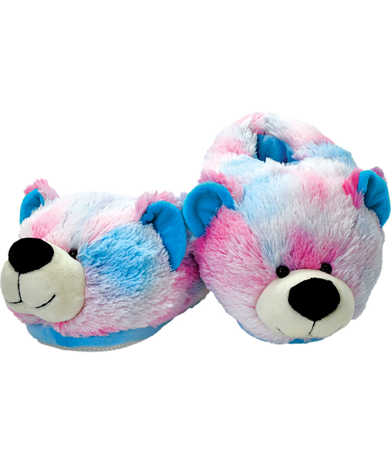 iScream Pink and Blue Tie-Dye Teddy Bear Slippers