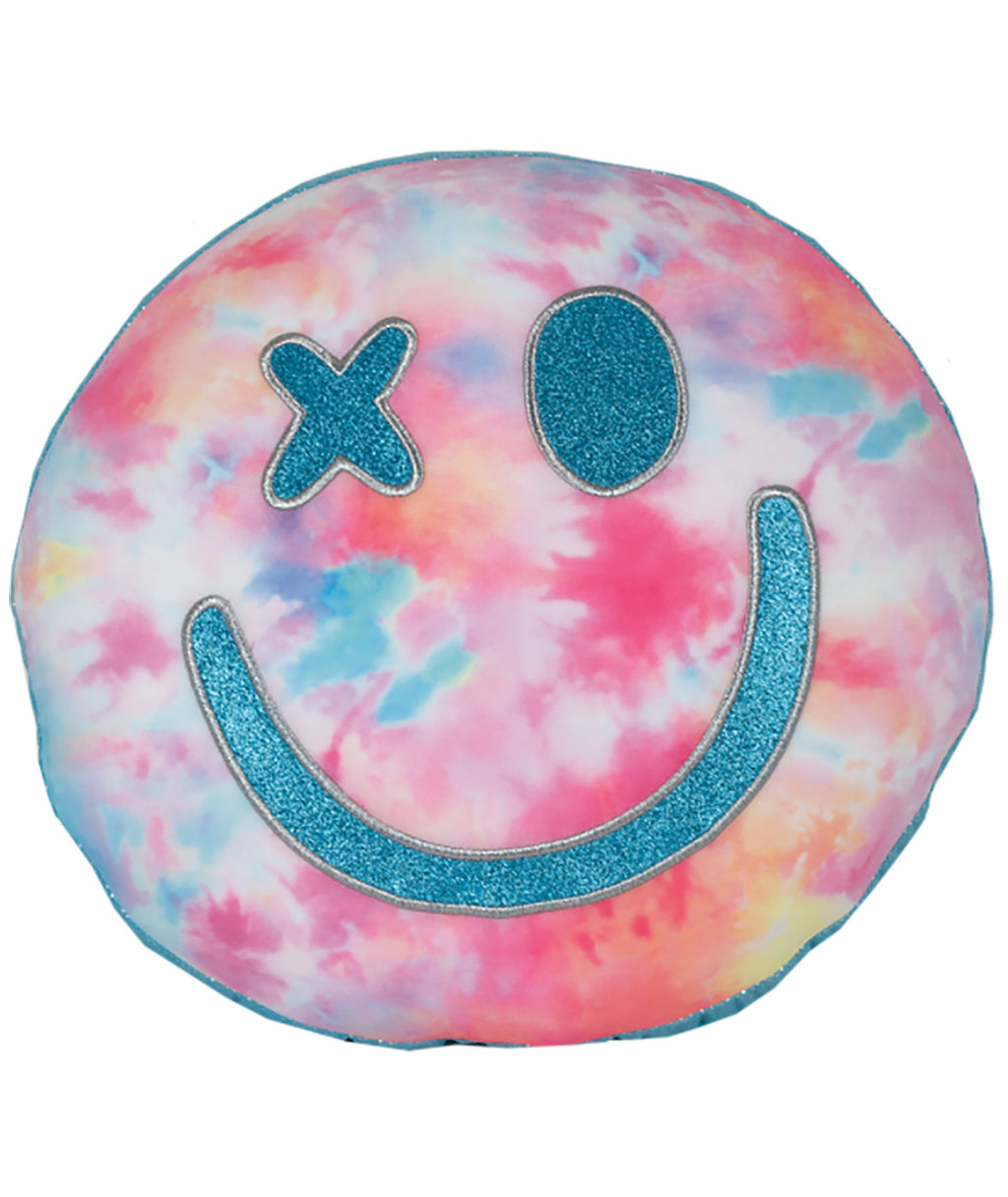 iScream Cotton Candy Smiley Face Pillow