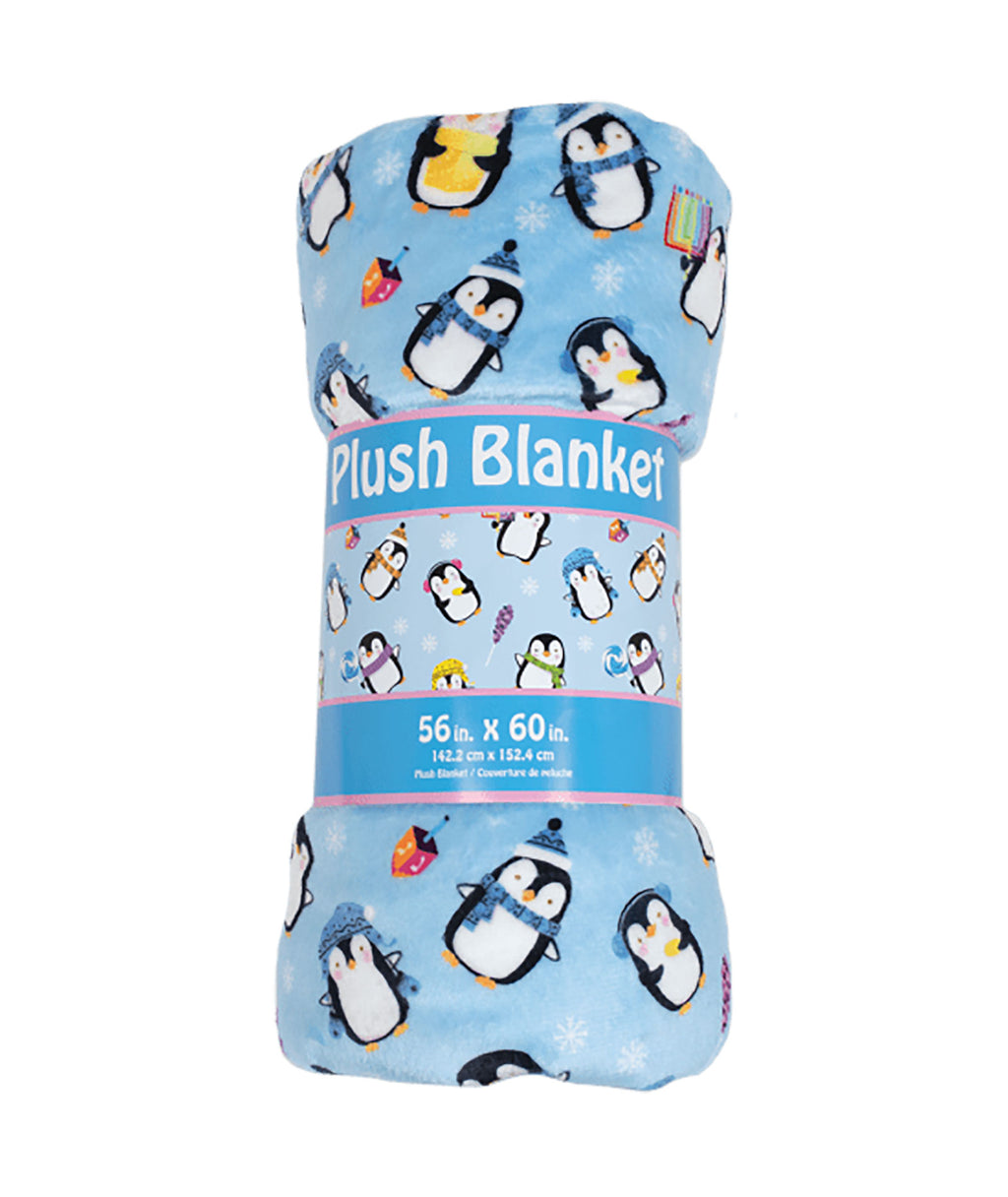 iScream Hanukkah Penguin Plush Blanket