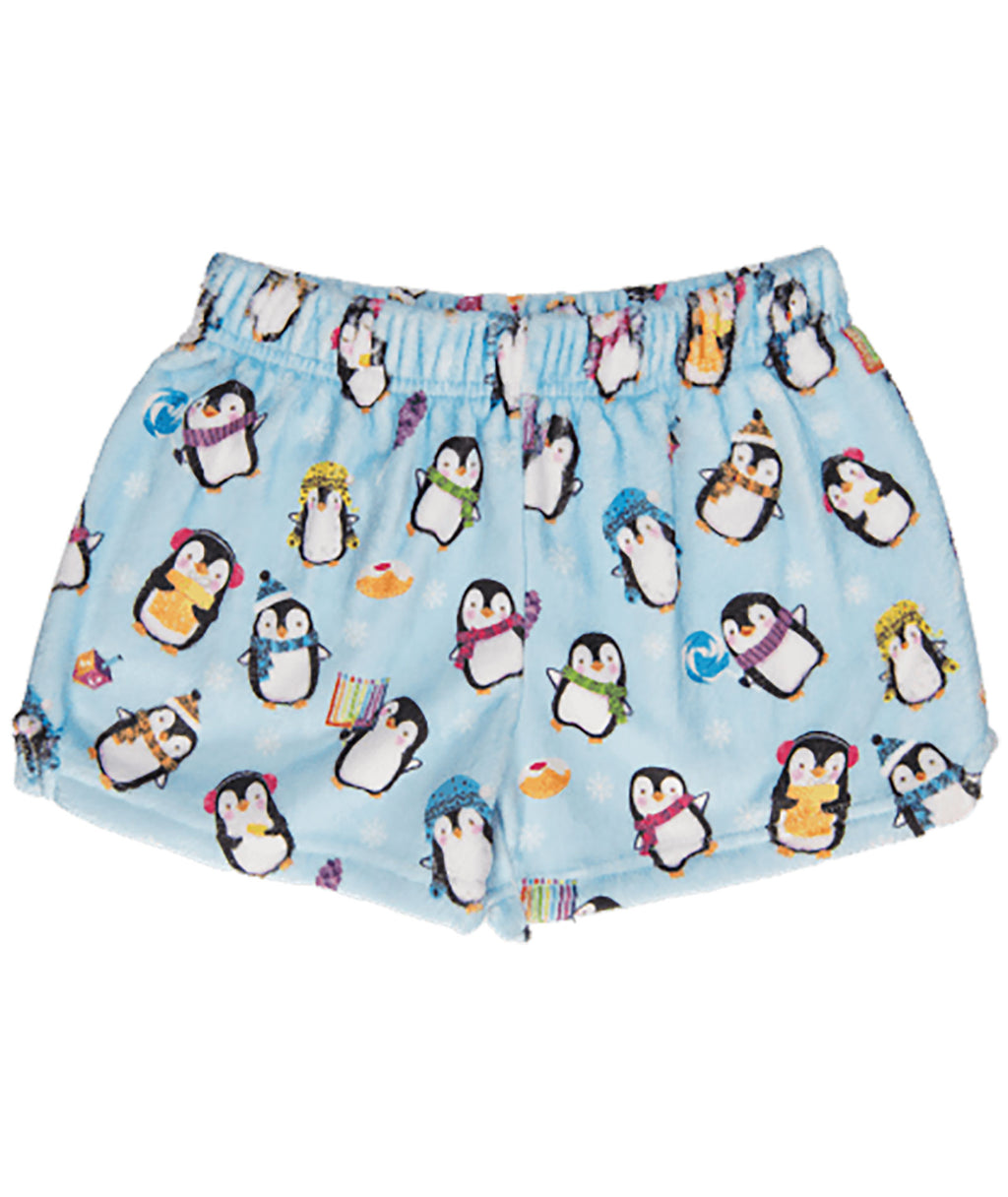iScream Girls Hanukkah Penguin PJ Shorts