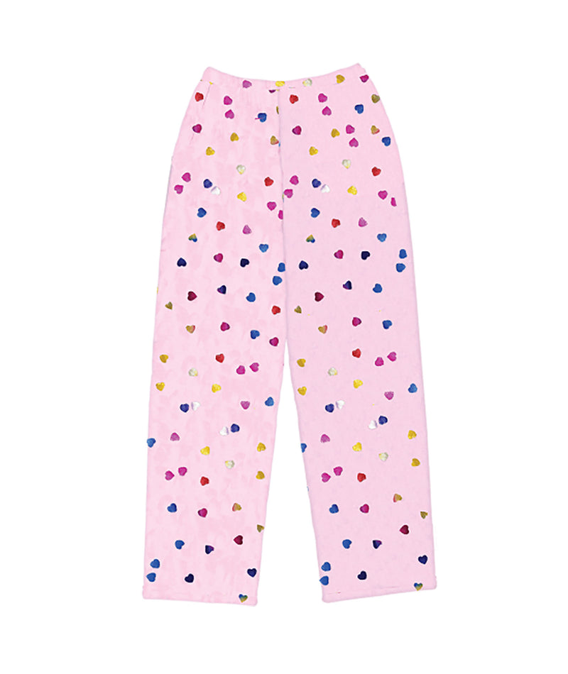 iScream Girls Foil Hearts Plush Pants