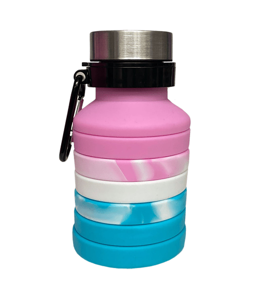 iScream Pink Ombre Collapsible Water Bottle
