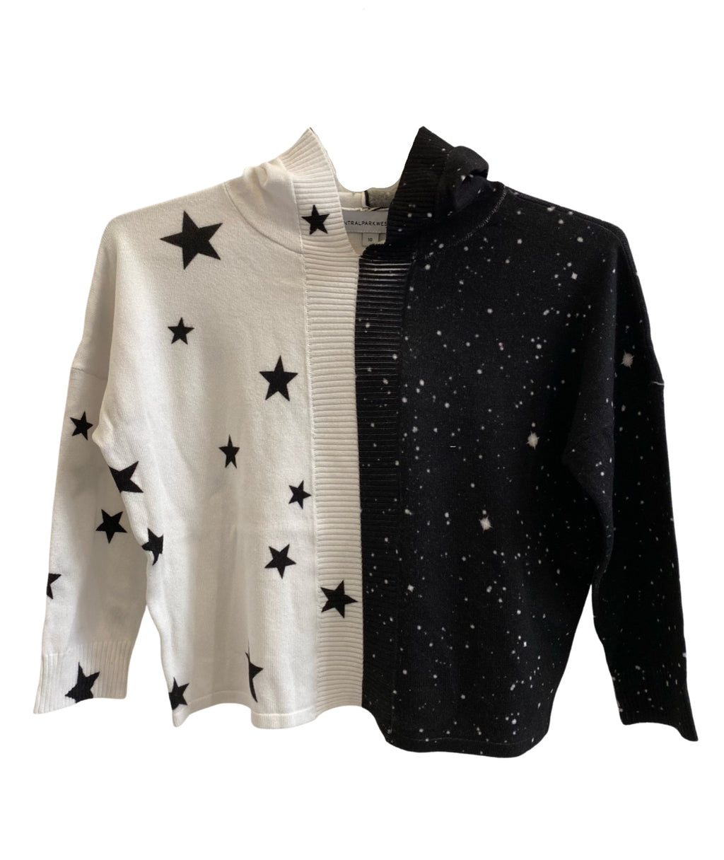Central Park West Girls Star Combo Pullover Sweater