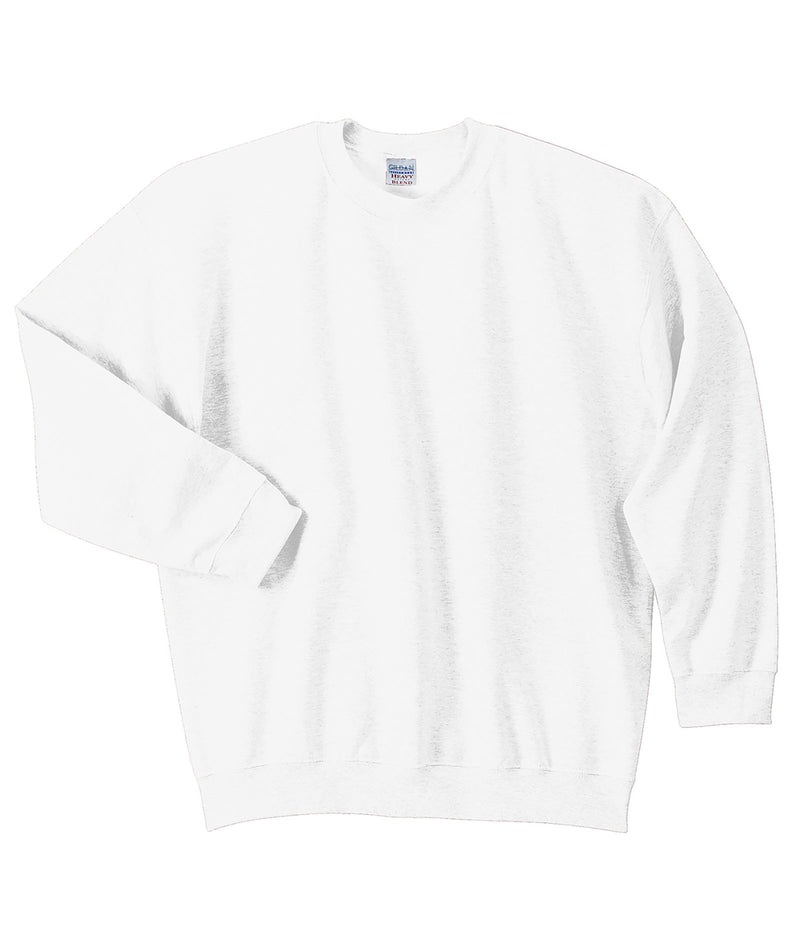 Gildan Adult Crew Pullover in White