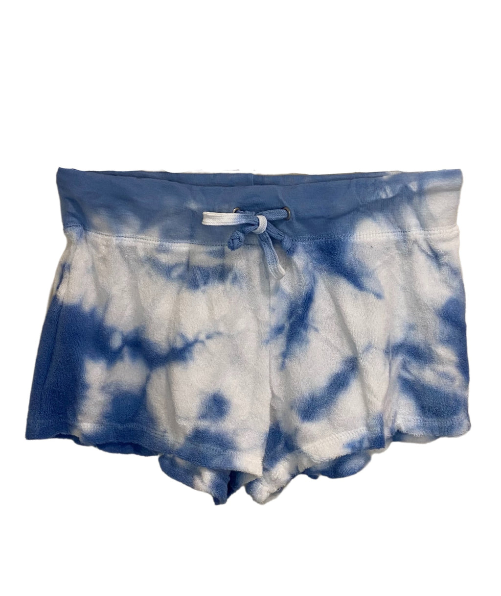 Love Junkie Girls Tie Dye Terry Shorts Cerulean