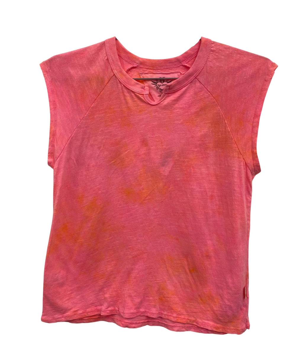 T2 Love Girls Neon Tie Dye Notch Tee