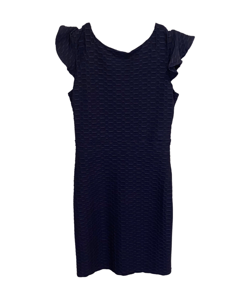 Zoe Ltd. Girls Navy Nina Feather Hem Dress