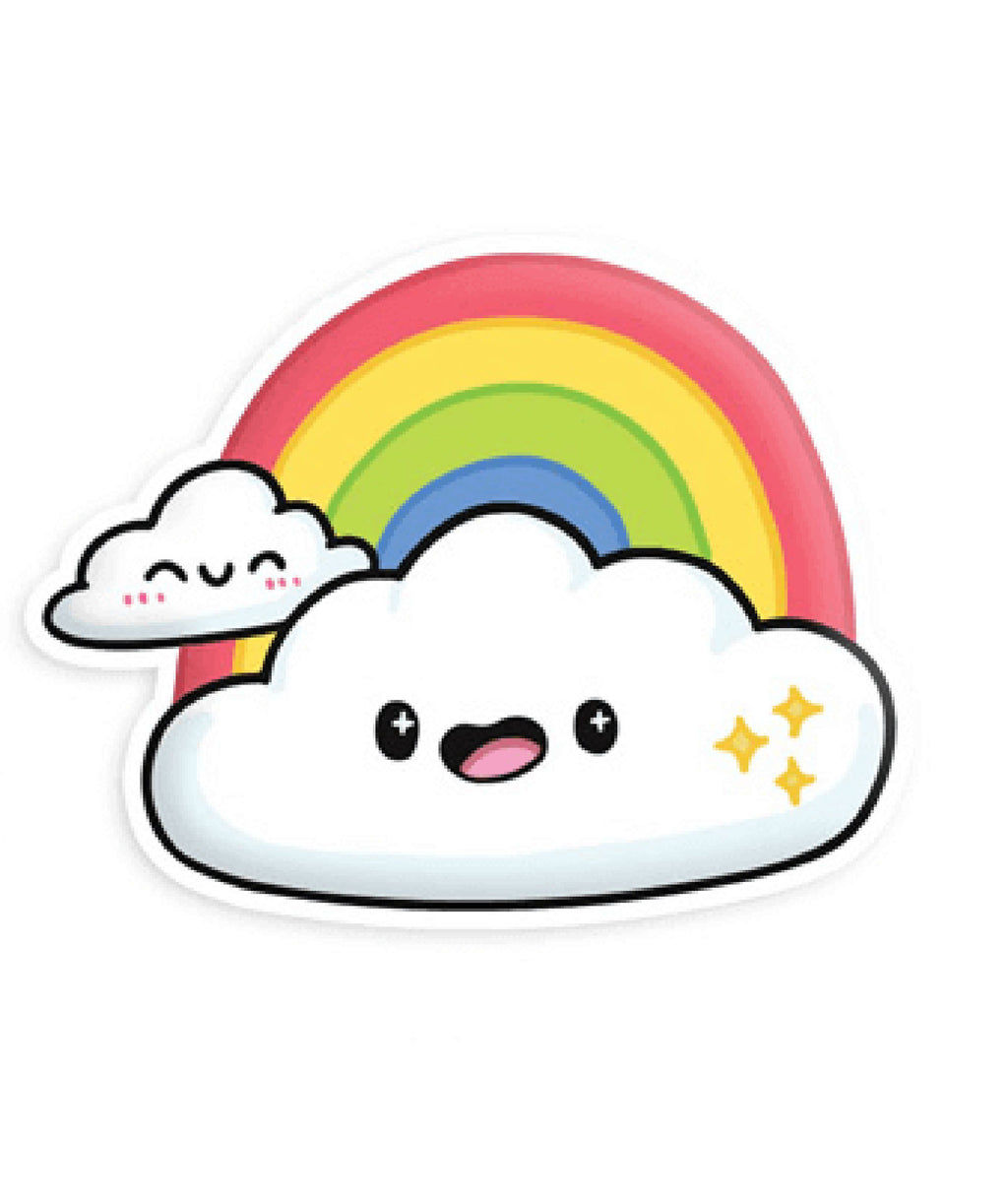 Squishable Vinyl Sticker Cloud Rainbow