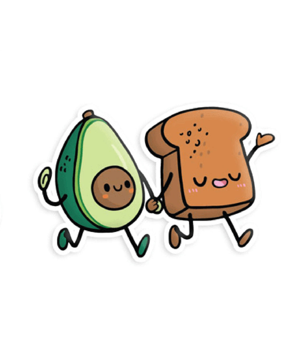 Squishable Vinyl Sticker Avocado Toast Friends